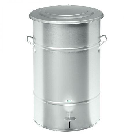 Kongamek Abfallbehälter aus Blech mit Fußpedal 30-70l Volumen