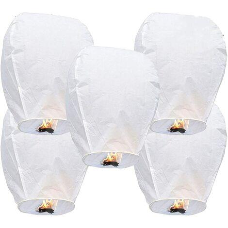 """main image of """"Kongming Lantern Wish Lamp Love Bishop Sky Lantern White 5pcs"""""""