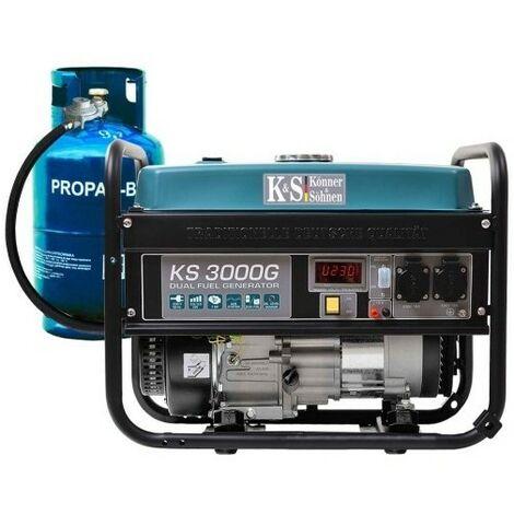 Konner & Sohnen essence/gaz Groupe électrogène 3000W KS3000G