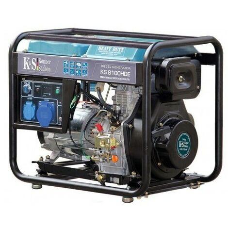 Konner & Sohnen Groupe électrogène diesel 6.5kw déma élec KS 8100HDE - Bleu