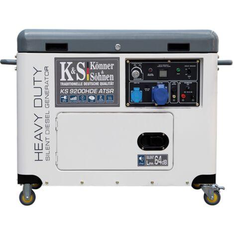 Konner & Sohnen groupe électrogène Diesel mono 6.8KW KS 9200HDE ATSR