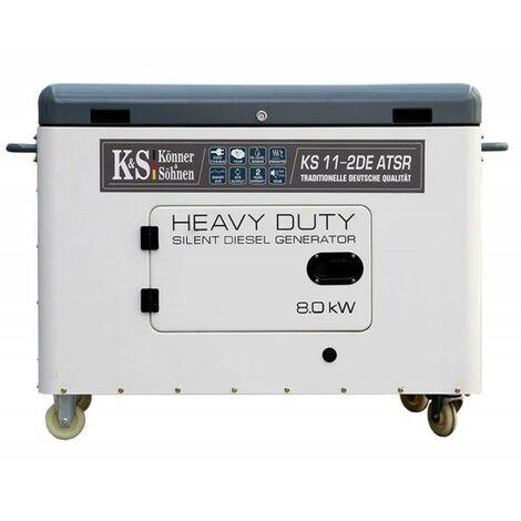 Konner & Sohnen groupe électrogène Diesel mono 8000W KS 11-2DE-ATSR