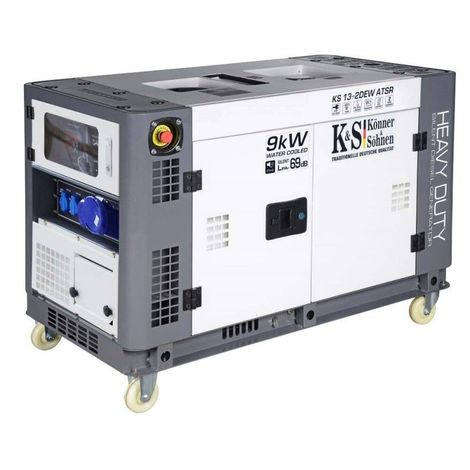 Konner & Sohnen groupe électrogène diesel mono à démarrage électrique 9KW KS 13-2DEW ATSR