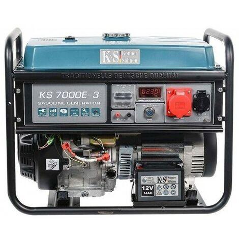 Konner & Sohnen Groupe électrogène essence dém élec 5500W KS 7000E-3