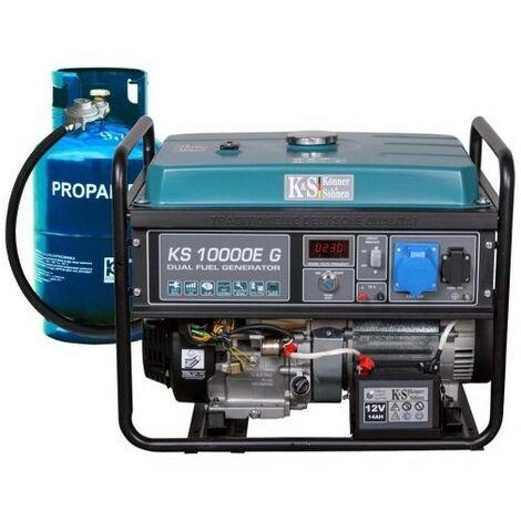 Konner & Sohnen groupe électrogène KS10000EG 8KW gaz ou essence - Bleu