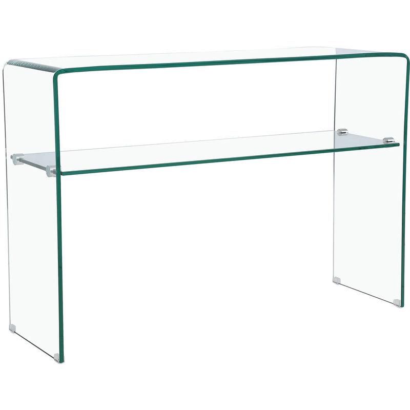 Habitat Et Jardin - Kommode Genova - 110 x 35 x 75 cm - Klares gebogenes Glas
