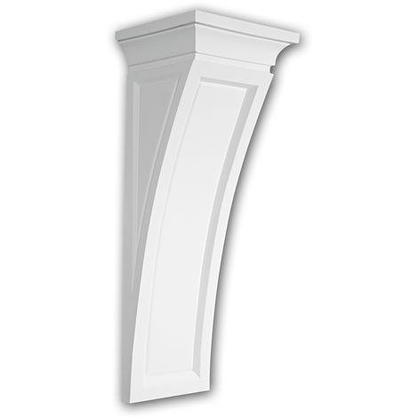 Konsole PROFHOME 119005 Wandboard Zierelement Dorischer Stil weiß
