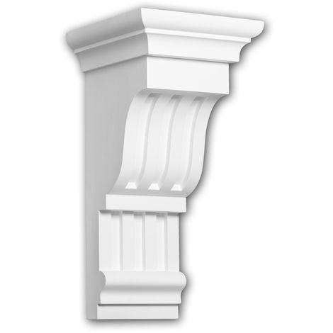 Konsole PROFHOME 119018 Wandboard Zierelement Dorischer Stil weiß