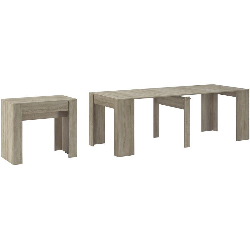 Konsoletisch, Esstisch ausziehbar bis 237 cm, Esszimmertisch und Wohnzimmertisch, rechteckig, Farbe Eiche hell, Maße geschlossen: 90x50x78 cm hoch.