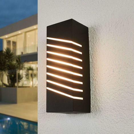 Konstantina slanted LED outdoor wall lamp