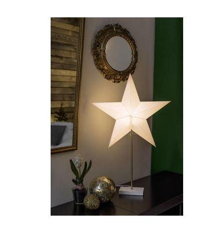 Stella Di Natale Legno.Konstsmide 1752 220 Stella Di Natale Stella Bianco Legno
