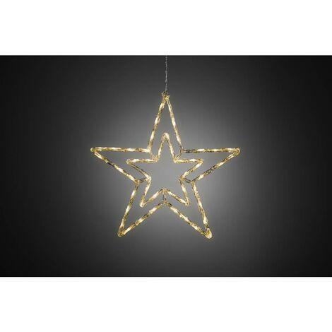 Stella Di Natale Led.Konstsmide 4471 103 Stella Di Natale Led Stella Bianco Caldo Led Bianco Caldo