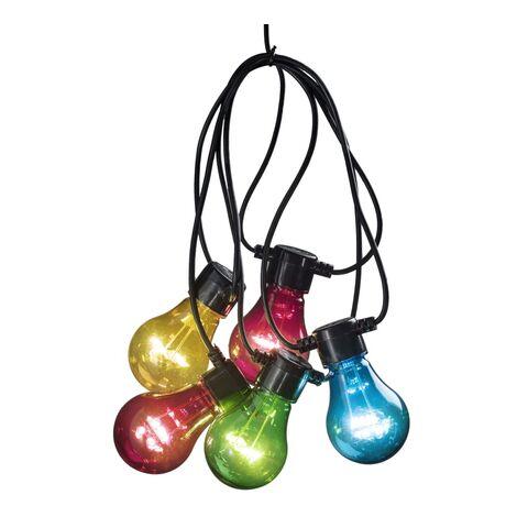 KONSTSMIDE Guirlande lumineuse à 5 ampoules transparentes Multicolore