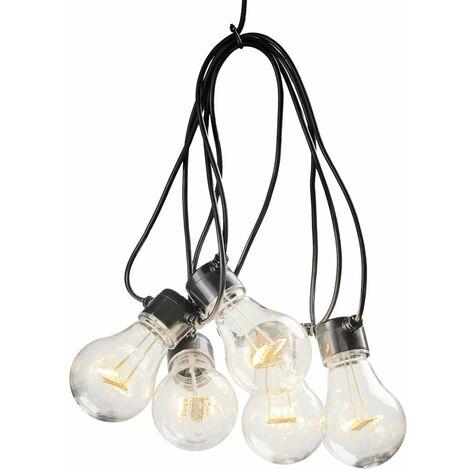 KONSTSMIDE Guirlande lumineuse avec 5 ampoules transparentes