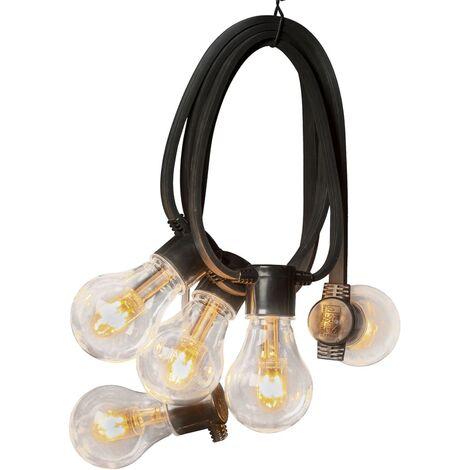 KONSTSMIDE Luces de fiesta con 10 lámparas goma extra cálidas - Transparente