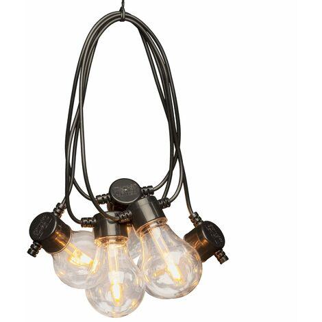 KONSTSMIDE Luces de fiesta con 10 lámparas reemplazables extra cálidas - Transparente