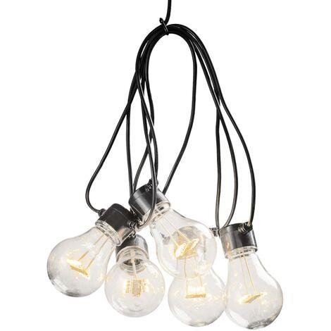 KONSTSMIDE Luces de fiesta con 10 lámparas transparentes extra cálidas - Transparente