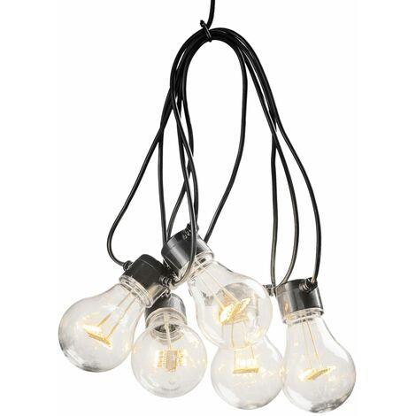 KONSTSMIDE Luces de fiesta con 20 lámparas transparentes extra cálidas - Transparente