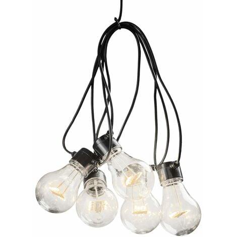KONSTSMIDE Luces de fiesta set inicio 10 lámparas ámbar extracálido - Transparente