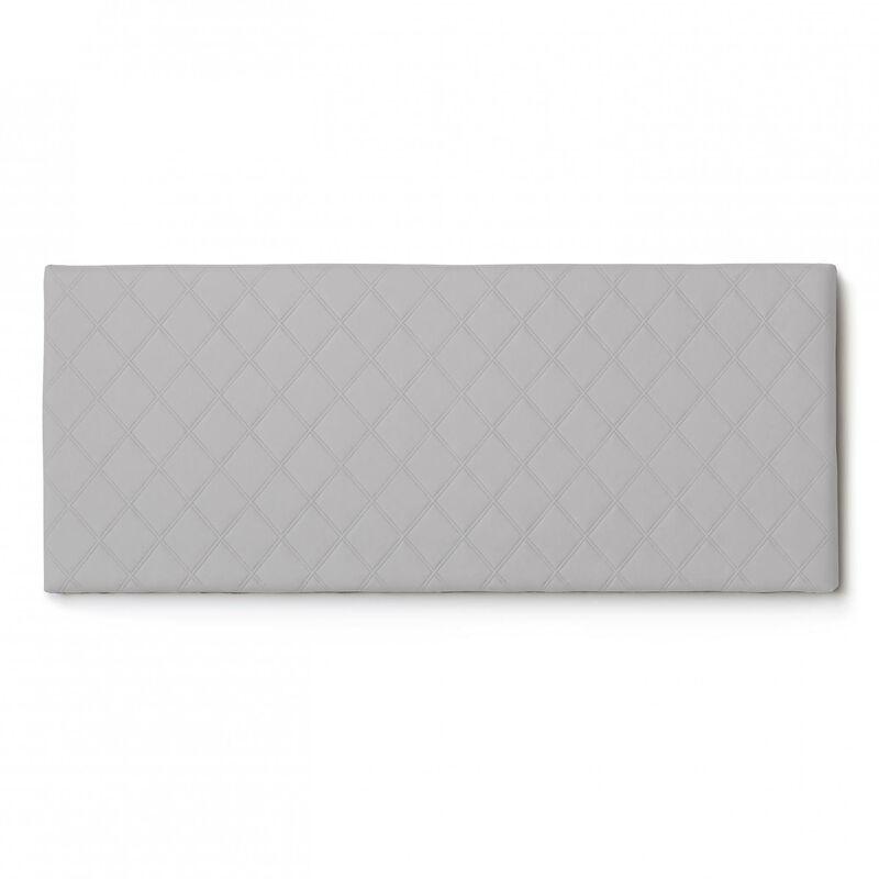 Kopfteil für Doppelbett aus Öko-Leder, Farbe Weiß - TALAMO ITALIA