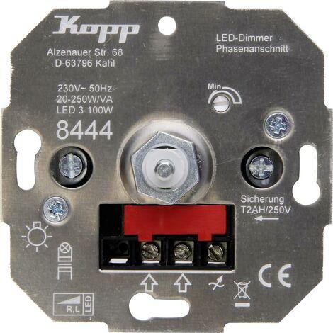 Kopp 844400008 Dimmer da incasso Adatto per lampadina: Lampadina LED, Lampadina alogena, Lampadina ad incandescenza