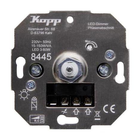 Kopp 844500001 Dimmer da incasso Adatto per lampadina: Lampadina ad incandescenza, Lampadina alogena, Lampadina LED