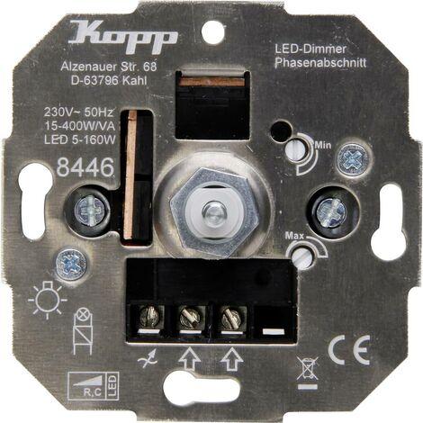 Kopp 844600004 Dimmer da incasso Adatto per lampadina: Lampadina ad incandescenza, Lampadina alogena, Lampadina LED