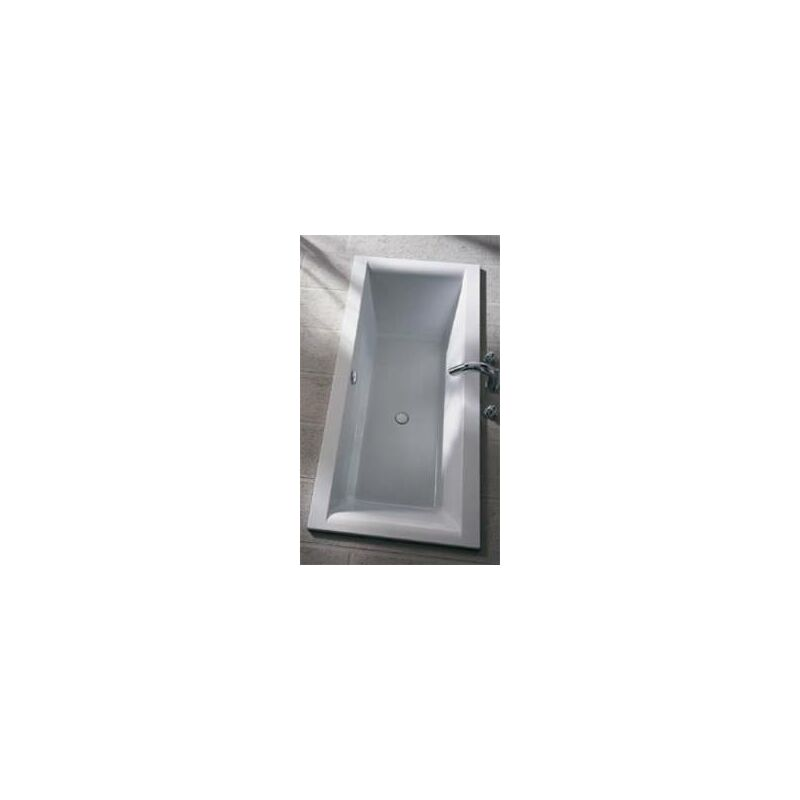 Koralle ClarissaPlus bañera rectangular 170x75cm con rebosadero frontal, blanco - VN190170075201