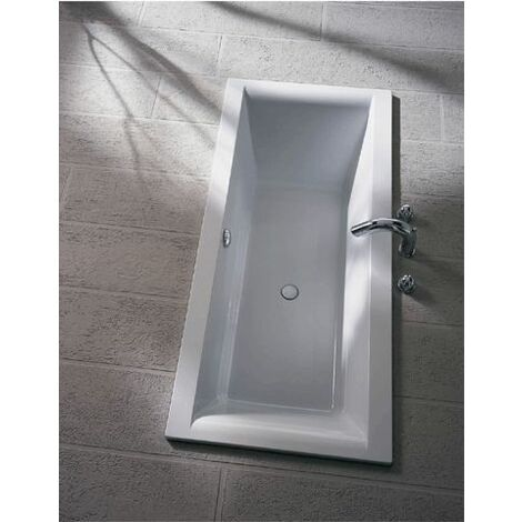 Koralle ClarissaPlus bañera rectangular 180x80cm con rebosadero frontal, blanco - VN190180080201