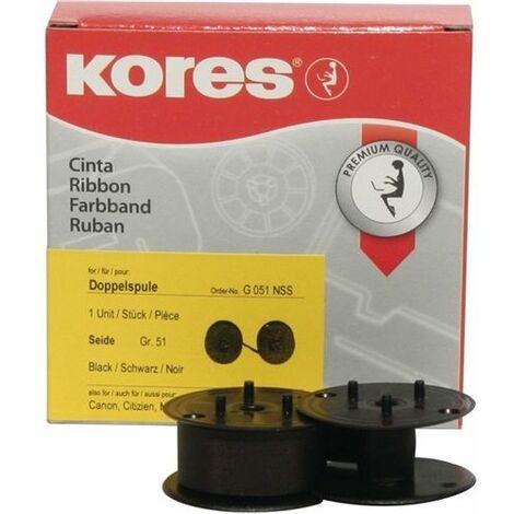 KORES Kores Calculadora de mesa Cinta G051NSS Tamaño 51 13mmx6m Seda negro