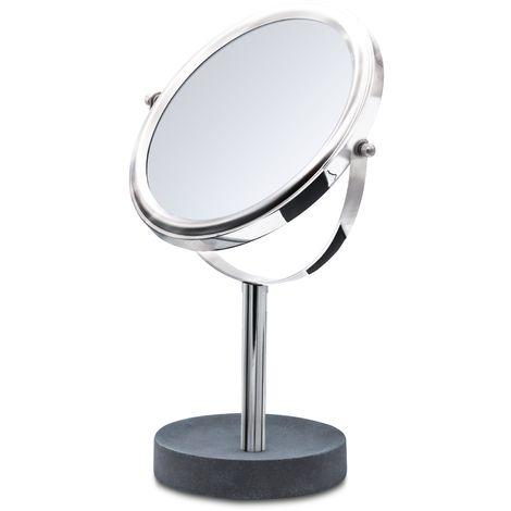 Kosmetik-Standspiegel Cement grau