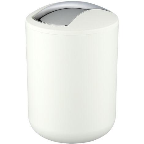 Kosmetikeimer Brasil S Weiß 2 L Bad Serie Abfalleimer Schwingdeckel Mülleimer WC