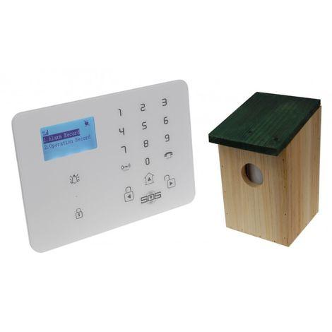 KP9 3G or GSM Alarm with Outdoor Pet Friendly Bird box PIR