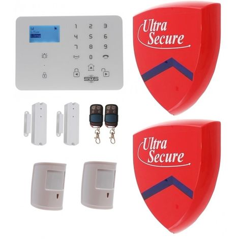 KP9 3G or GSM Pet Friendly Alarm Kit F with 2 x Dummy Alarm Boxes