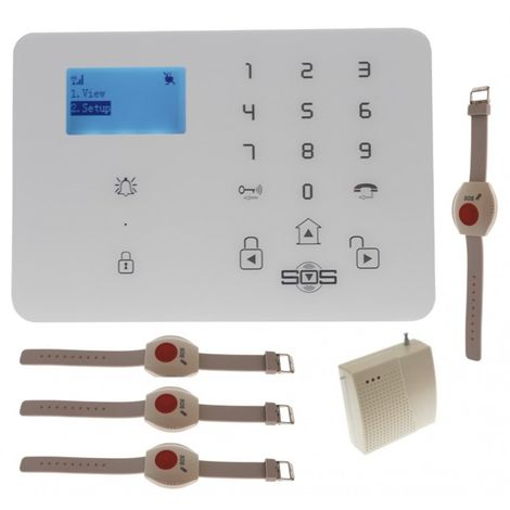 KP9 3G or GSM Wireless 200 - 400 metre Staff Wireless Panic Alarm Kit D with Wristbands & Signal Booster