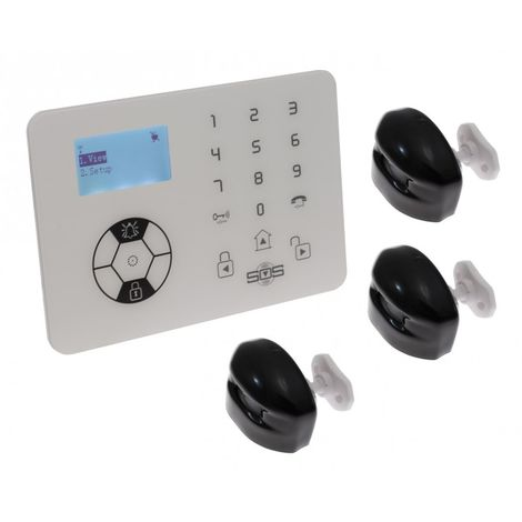 KP9 Bells Only Alarm with 3 x Outdoor Curtain PIR's. [004-2310]