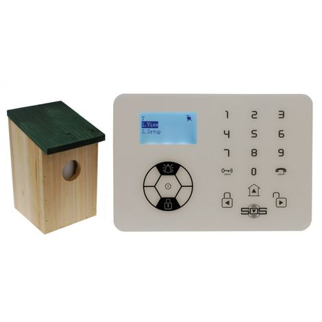 KP9 Bells Only Alarm with Outdoor Pet Friendly Bird box PIR [005-4540]