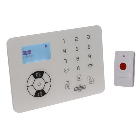 KP9 Siren Only Wireless 100 metre Panic Alarm with 1 x Wall Mounting Panic Button. [009-0850]