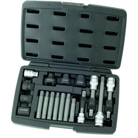 KRA30612. Coffret de douilles spéciales pour poulies débrayables d'alternateur KRAFTWERK 99.64