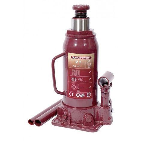 KRA3975. Cric bouteille hydraulique 2tonnes Kraftwerk 32.48
