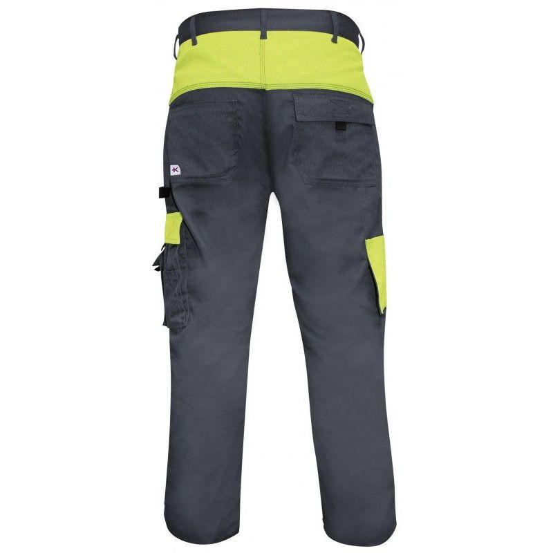 KRA802.001.001. Pantalon de travail taille S L - Gris et vert - Kraftwerk
