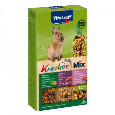 Kracker Combi pour lapins nains Noix/Fruits Bois/Légumes Vitakraft