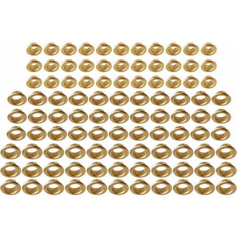 5,0 x 5,5 mm Surtido de ojales Kraftmann 569-1 100 piezas