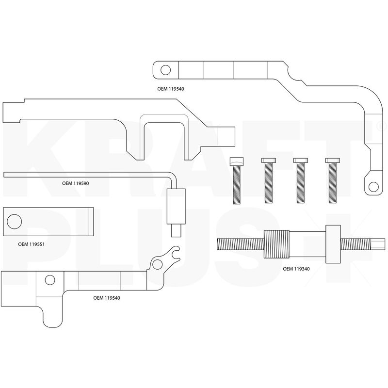 KRAFTPLUS® K.200-1012 Kit Calage distribution PSA pour BMW Mini Peugeot Citroën