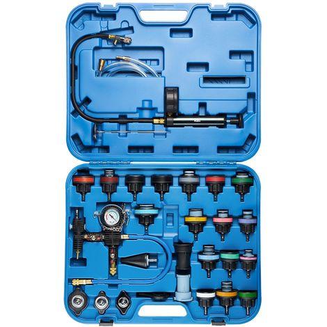 KRAFTPLUS® K.221-7728 Jeu d′outils de diagnostic pour circuit de refroidissement - 28 pcs - avec kit de remplissage