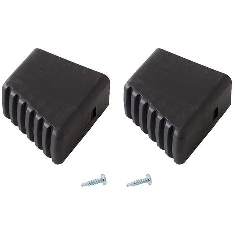 KRAUSE MONTO Fußkappe (Paar) 40x20 mm, schwarz