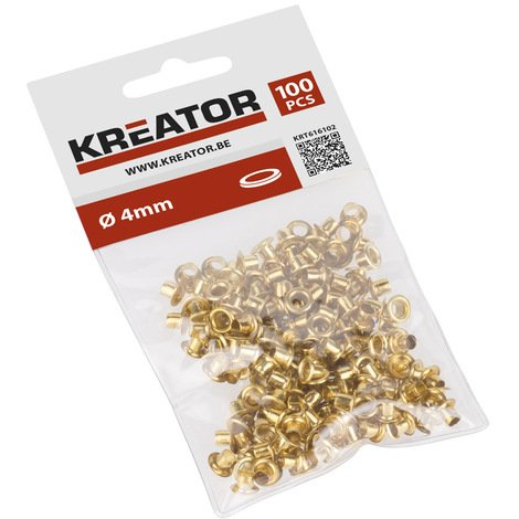 Kreator 100PK 4mm dia. Eyelet Set Brass KRT616102