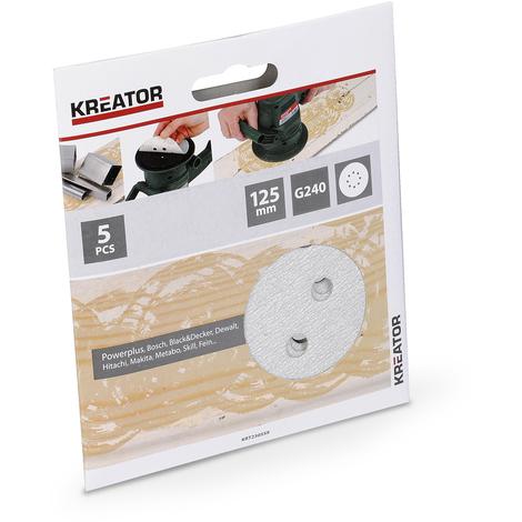 Kreator 5PK Orbital Sanding Sheets - Paint 240Grit KRT230559