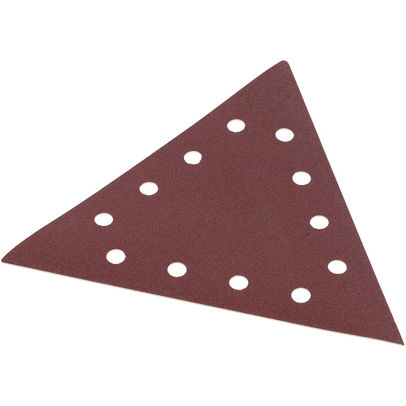 5pk 90mm Velcro Triangle Sanding Pad Sheet 120 Grit