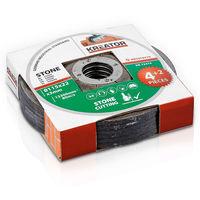 Kreator 6PK Stone Cutting Discs 115mm 22mm Bore KRT070210